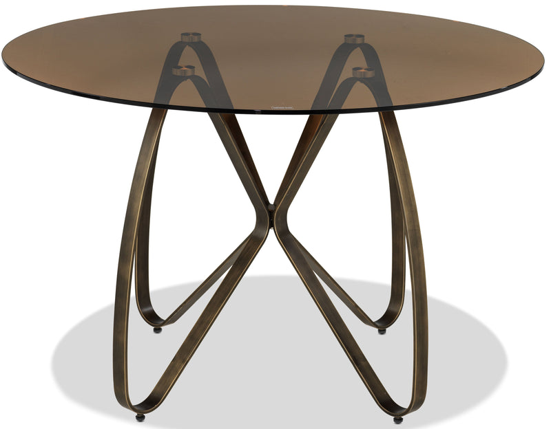 Bandit Dining Table - Amber and Muted Gold