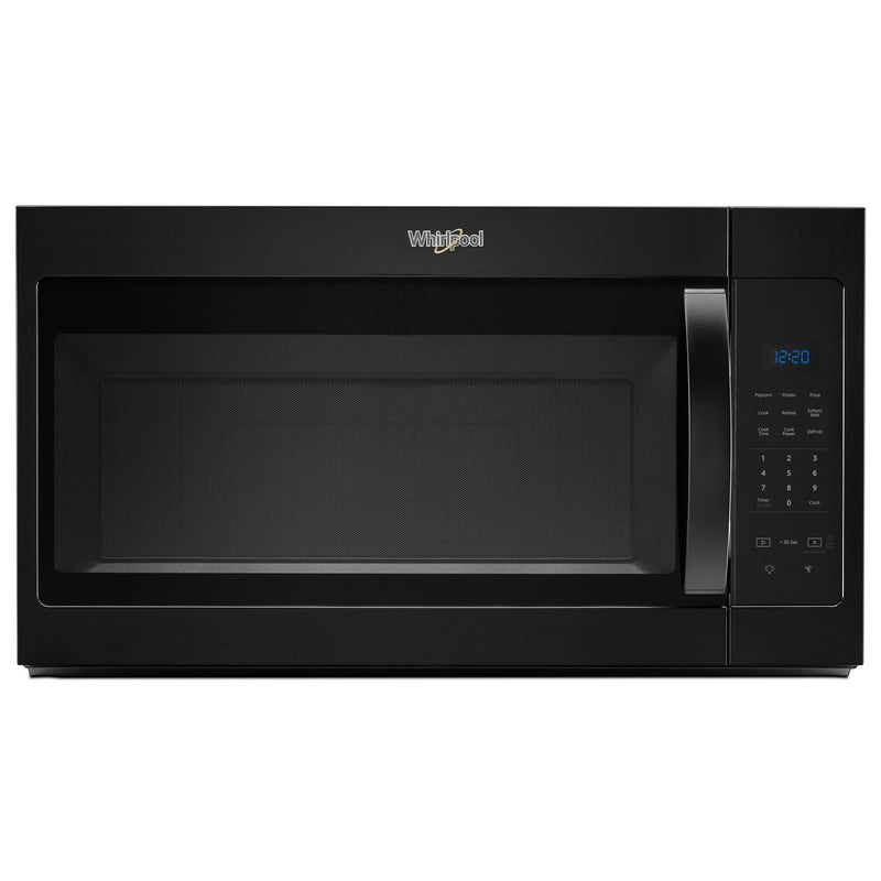Whirlpool Black Over-the-Range Microwave and Hood Combination (1.7 Cu.Ft.) -YWMH31017HB