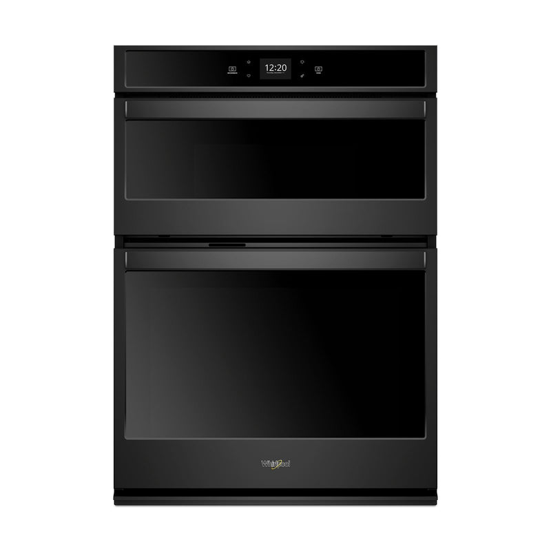 Whirlpool Black Smart Electric Wall Oven (5.0 Cu.Ft.) w/Microwave (1.4 Cu. Ft.)  - WOC54EC0HB
