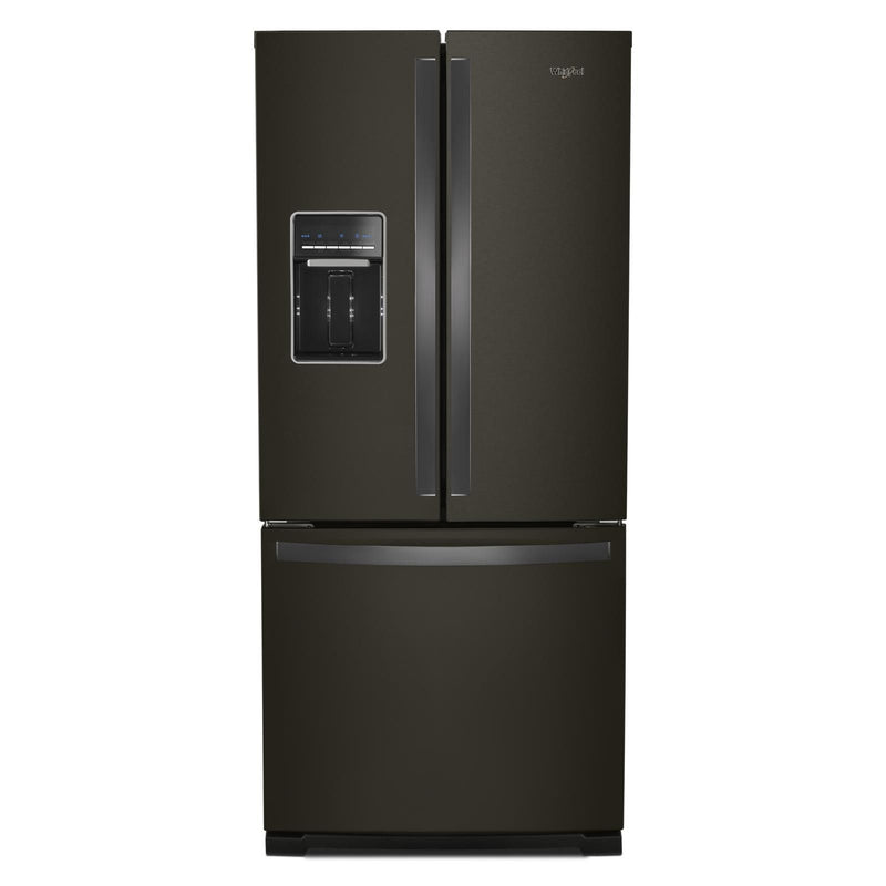 Whirlpool Fingerprint Resistant Black Stainless French Door Refrigerator (19.7 Cu.Ft.) - WRF560SEHV