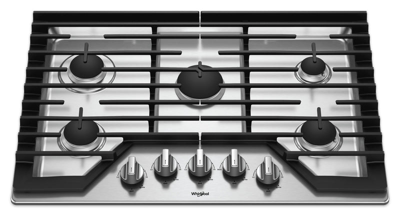 Whirlpool Stainless Steel Gas Cooktop - WCG77US0HS
