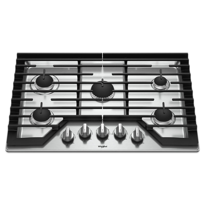 "Whirlpool Stainless Steel 30"" Gas Cooktop - WCG97US0HS"