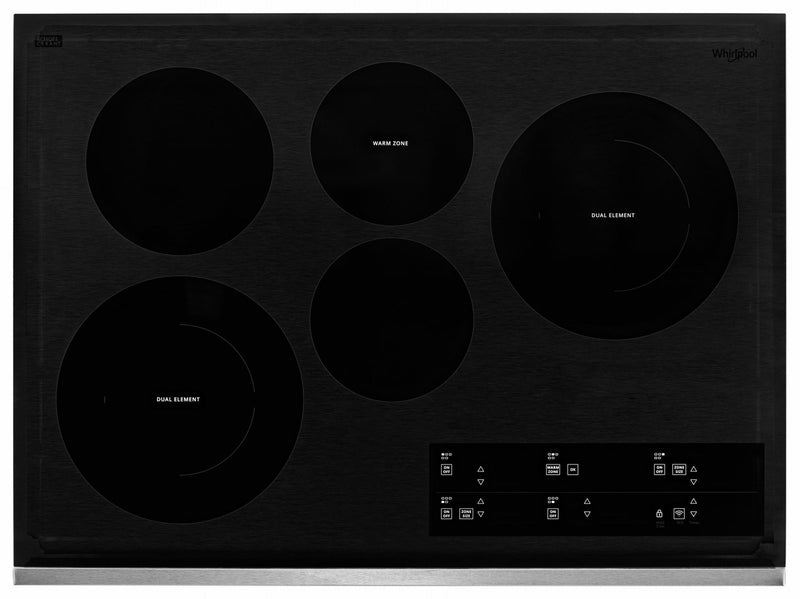 "Whirlpool Stainless Steel 30"" Smart Electric Cooktop - WCE97US0HS"