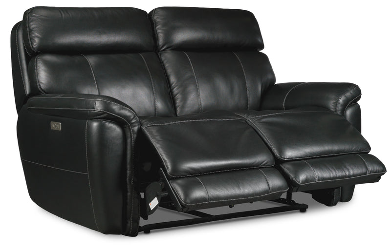Stallion Dual Power Reclining Loveseat - Midnight Black