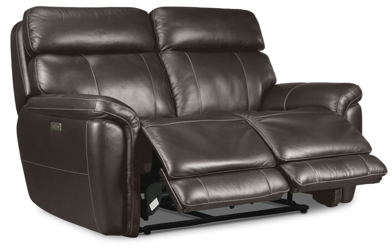 Stallion Dual Power Reclining Loveseat - Dark Grey
