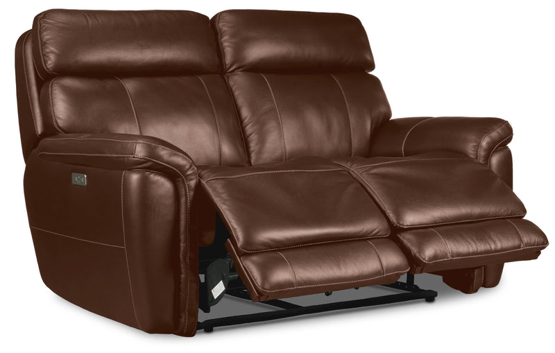 Stallion Dual Power Reclining Loveseat - Chestnut