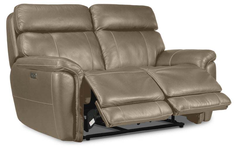 Stallion Dual Power Reclining Loveseat - Pebble