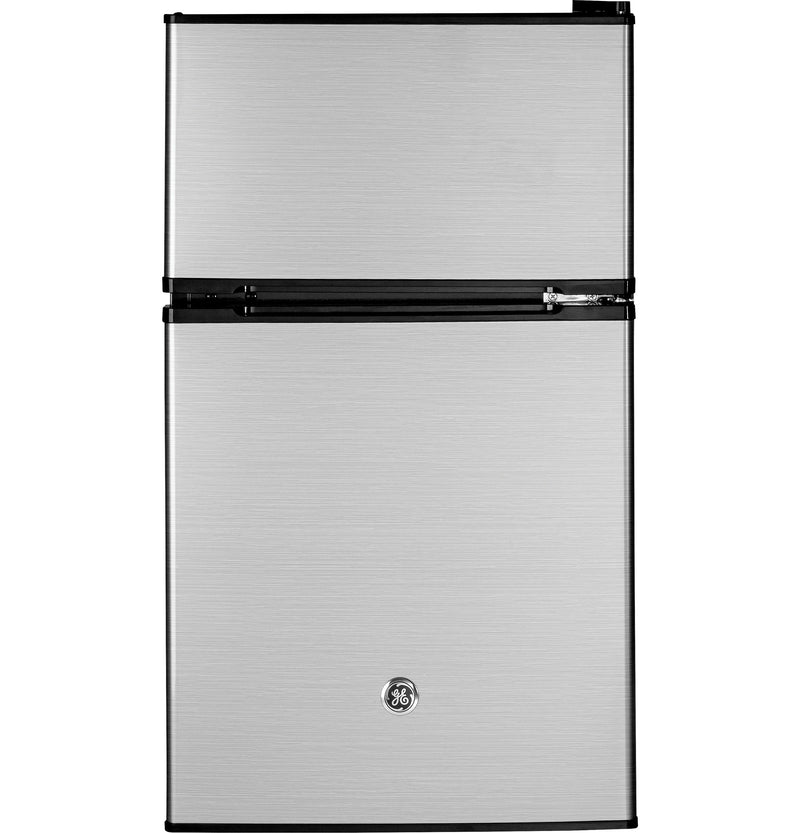 GE Stainless Steel Double Door Compact Refrigerator (3.1 Cu. Ft.) - GDE03GLKLB