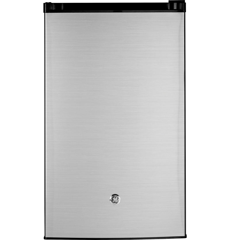 GE Clean Steel Compact Refrigerator (4.4 Cu. Ft.) - GME04GLKLB