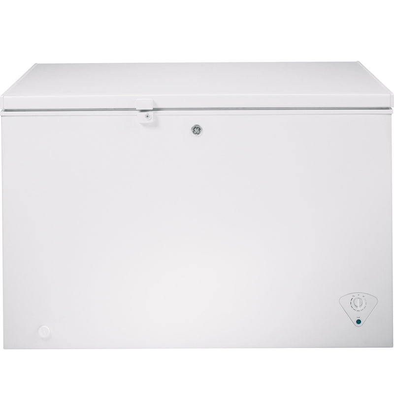 GE White Manual Defrost Chest Freezer White (10.6 Cu. Ft.) - FM11PHWW