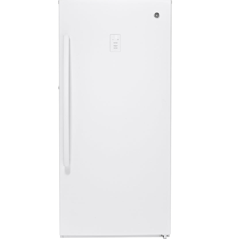 GE White Frost Free Upright Freezer (14.1 Cu. Ft.) - FUF14SMRWW