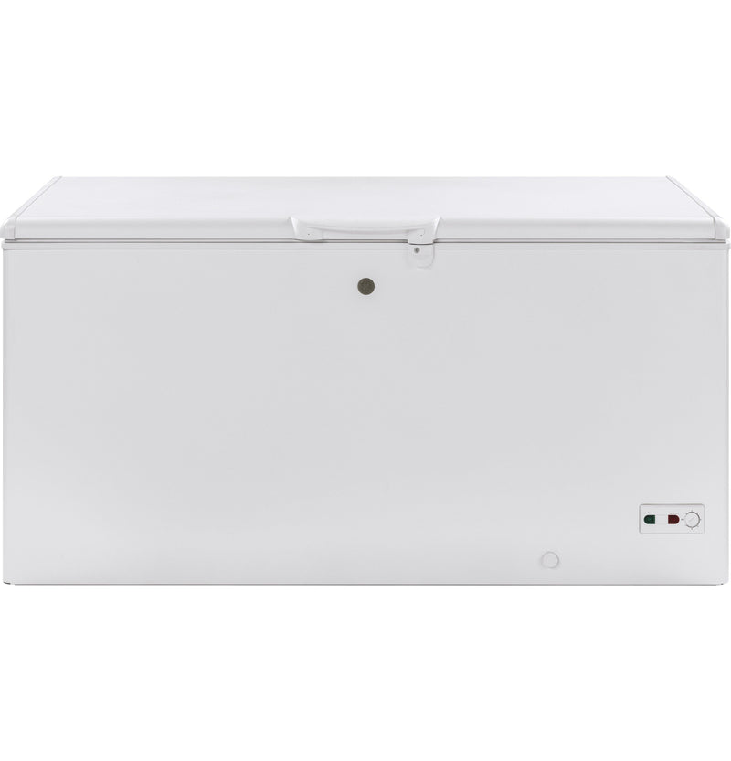 GE White Manual Defrost Chest Freezer (15.7 Cu. Ft.) - FCM16SLWW