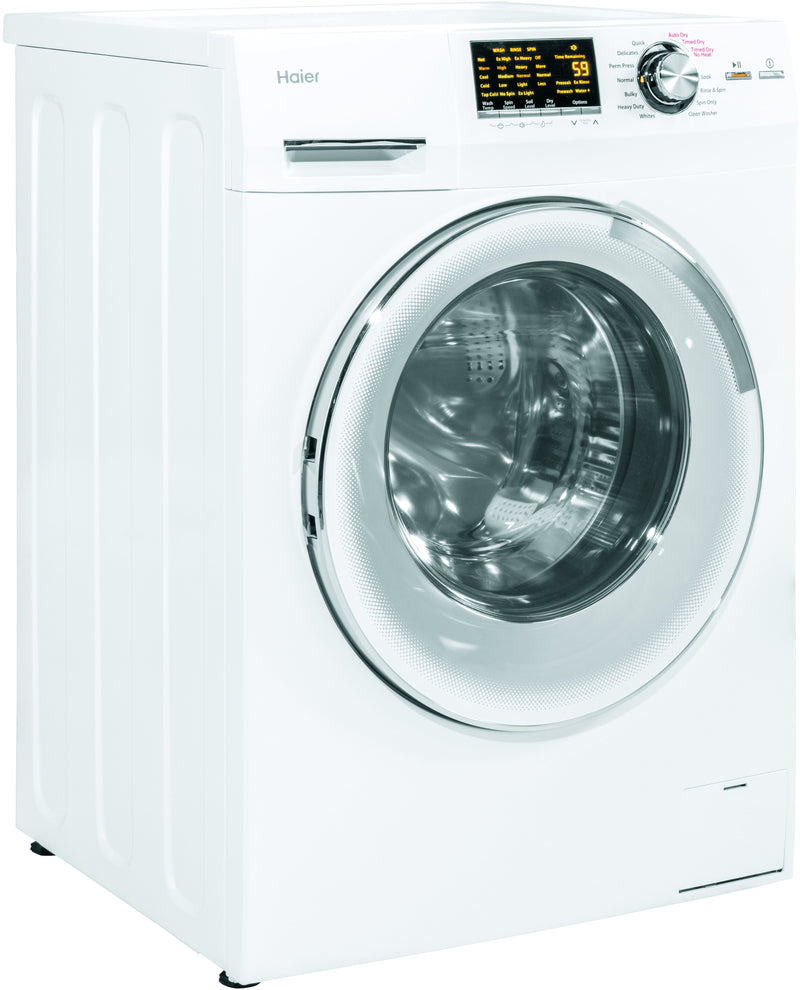 Haier White Front Load Washer-Dryer Combo (2 Cu. Ft.) - HLC1700AXW