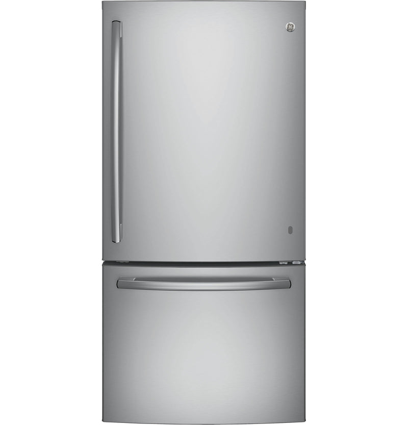 GE Stainless Steel Bottom-Freezer Refrigerator (24.9 Cu. Ft.) - GDE25ESKSS