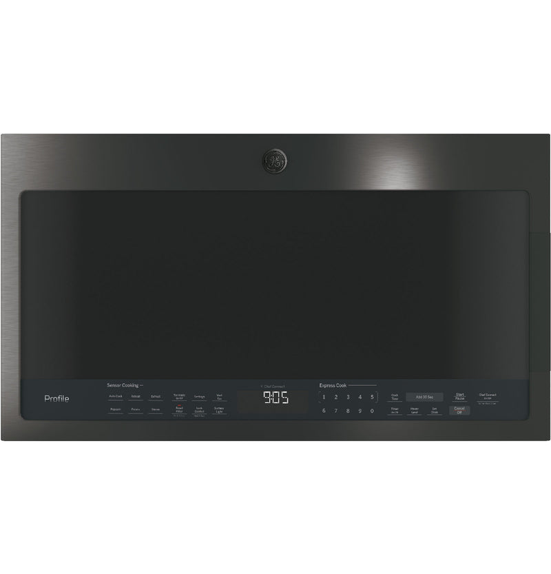 GE Profile Black Stainless Steel Over-The-Range Microwave (2.1 Cu. Ft.) - PVM2188BMTSC