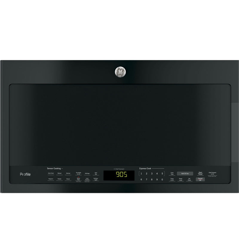GE Profile Black Slate Over-The-Range Microwave (2.1 Cu. Ft.) - PVM2188DSMC