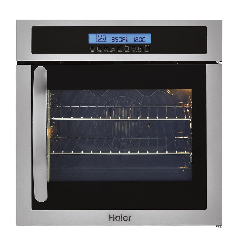 "Haier Stainless Steel 24"" Convection Wall Oven - HCW225RAES"