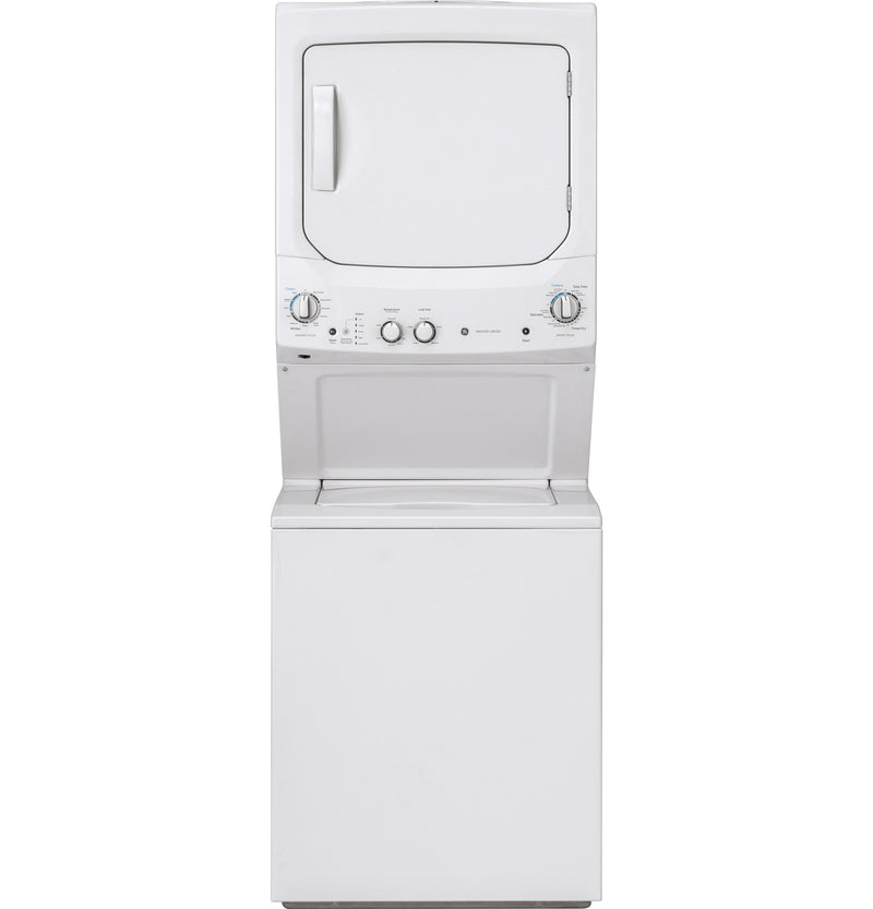 GE White Unitized Gas Laundry Centre - GUD24GSSMWW