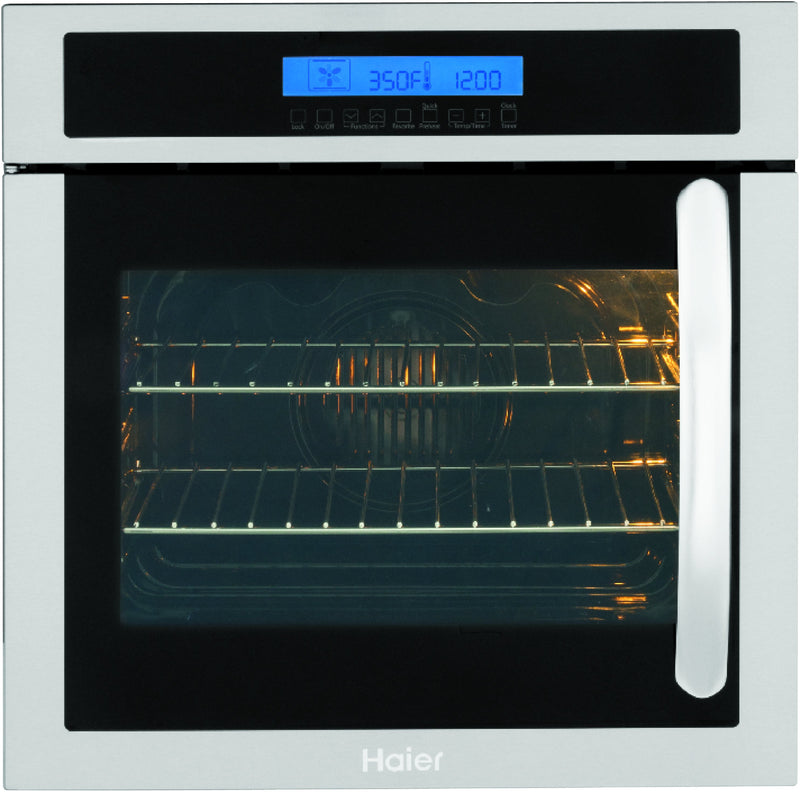 "Haier Stainless Steel 24"" Wall Oven (2.0 Cu. Ft.) - HCW225LAES"