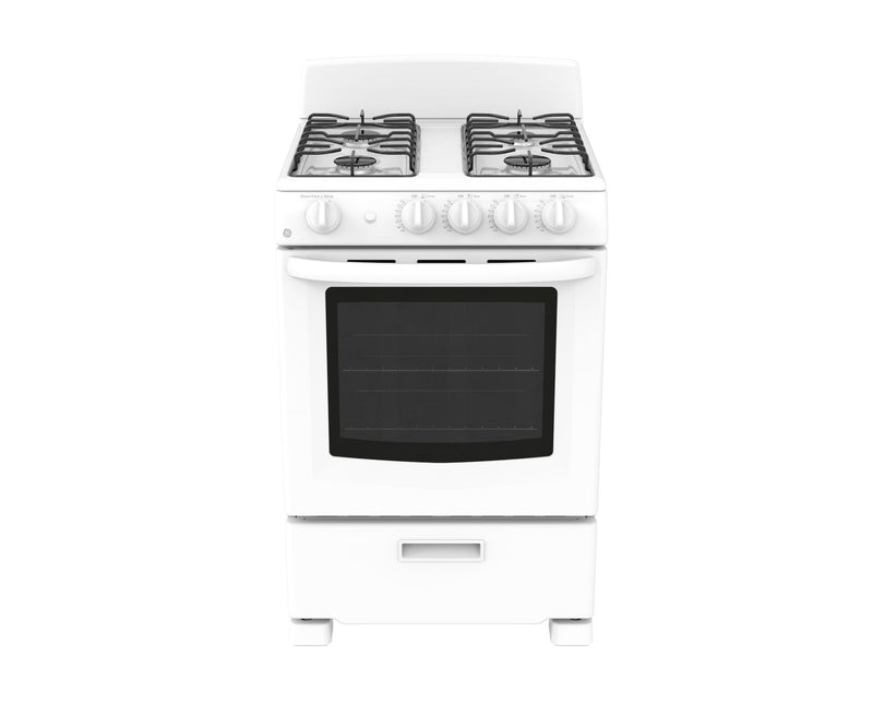 "GE 24"" White Freestanding Gas Range (2.9 Cu. Ft.) - JCGAS300DMWW"