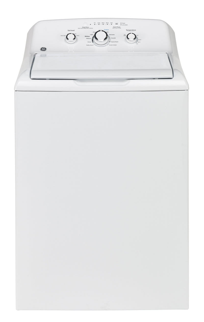 GE White Top-Load Washer (4.4 Cu. Ft.) - GTW330BMMWW