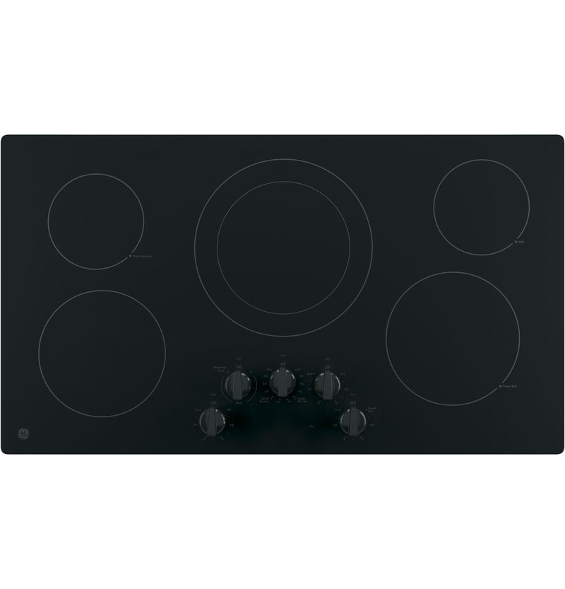 "GE Black 36"" Electric Cooktop - JP3036DLBB"