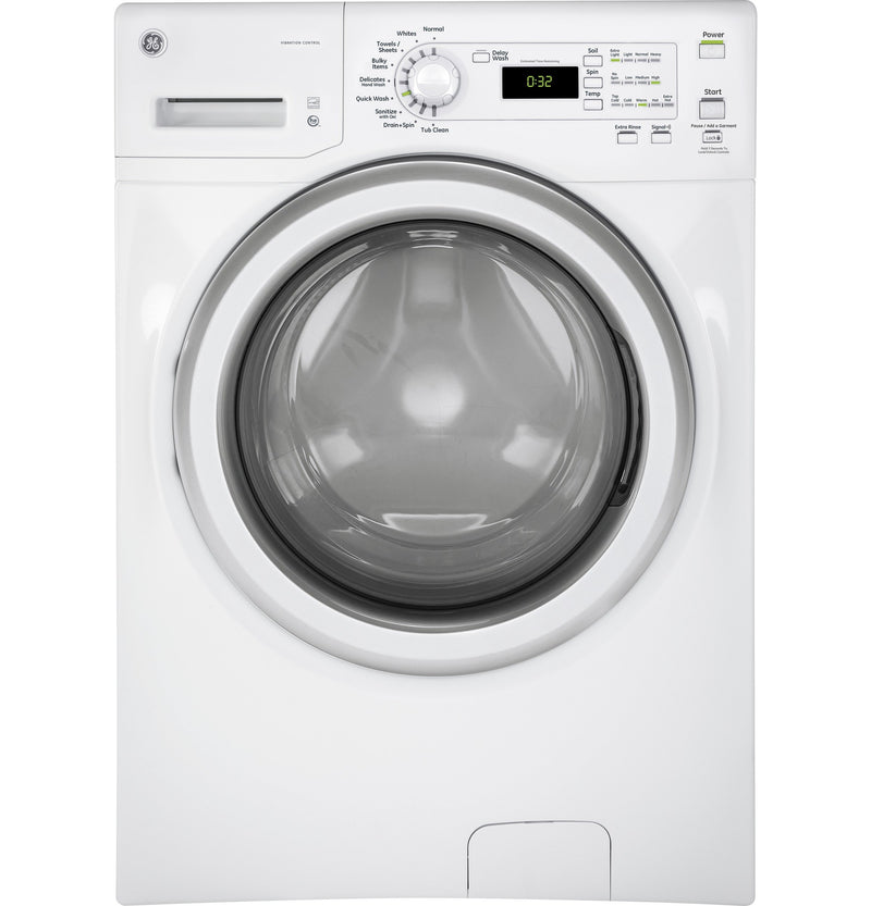 GE White Front Load Washer (4.8 IEC Cu. Ft.) - GFW400SCMWW