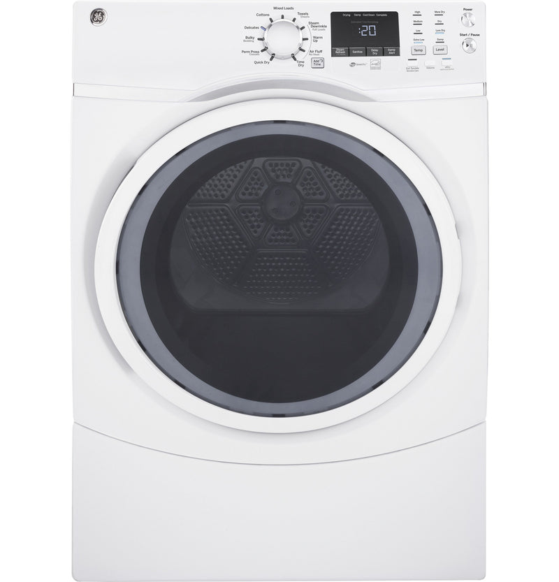 GE White Electric Dryer (7.5 Cu. Ft.) - GFD45ESMMWW