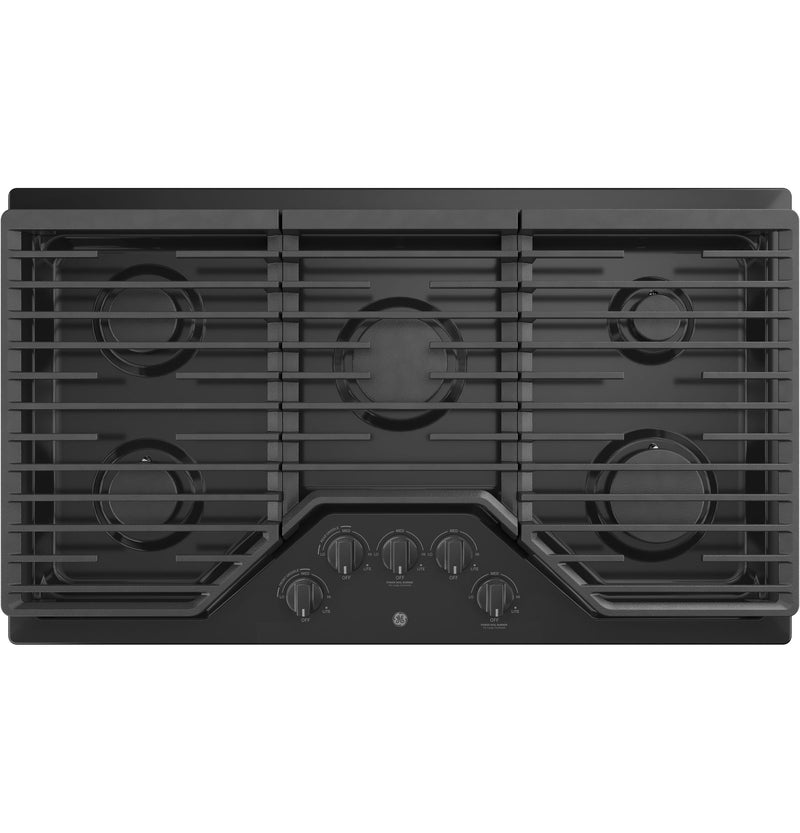 "GE Black 36"" Gas Cooktop - JGP5036DLBB"