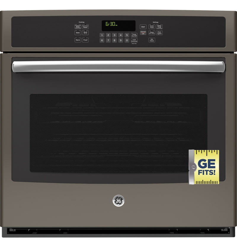 "GE 30"" Slate Electric Convection Single Wall Oven (5.0 Cu. Ft.) - JT5000EJES"
