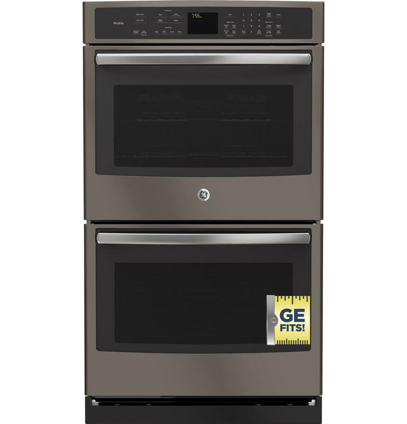 "GE Profile 30"" Slate Electric Convection Double Wall Oven (10 Cu. Ft.) - PT7550EHES"