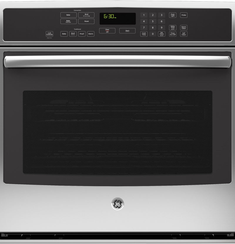 "GE Profile 30"" Stainless Steel Electric Convection Single Wall Oven (5.0 Cu. Ft.) - PCT7050SFSS"