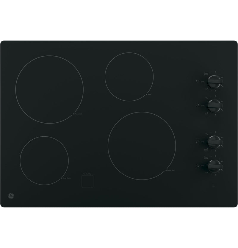 "GE Black on Black 30"" Electric Cooktop - JP3030DJBB"