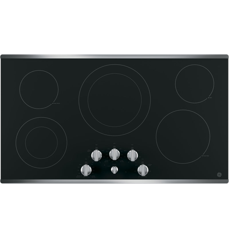 "GE Stainless Steel 36"" Electric Cooktop - JP3536SJSS"