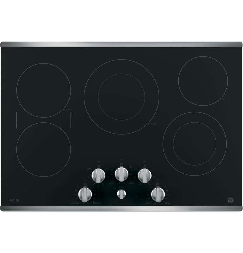 "GE Profile Stainless Steel 30"" Electric Cooktop - PP7030SJSS"