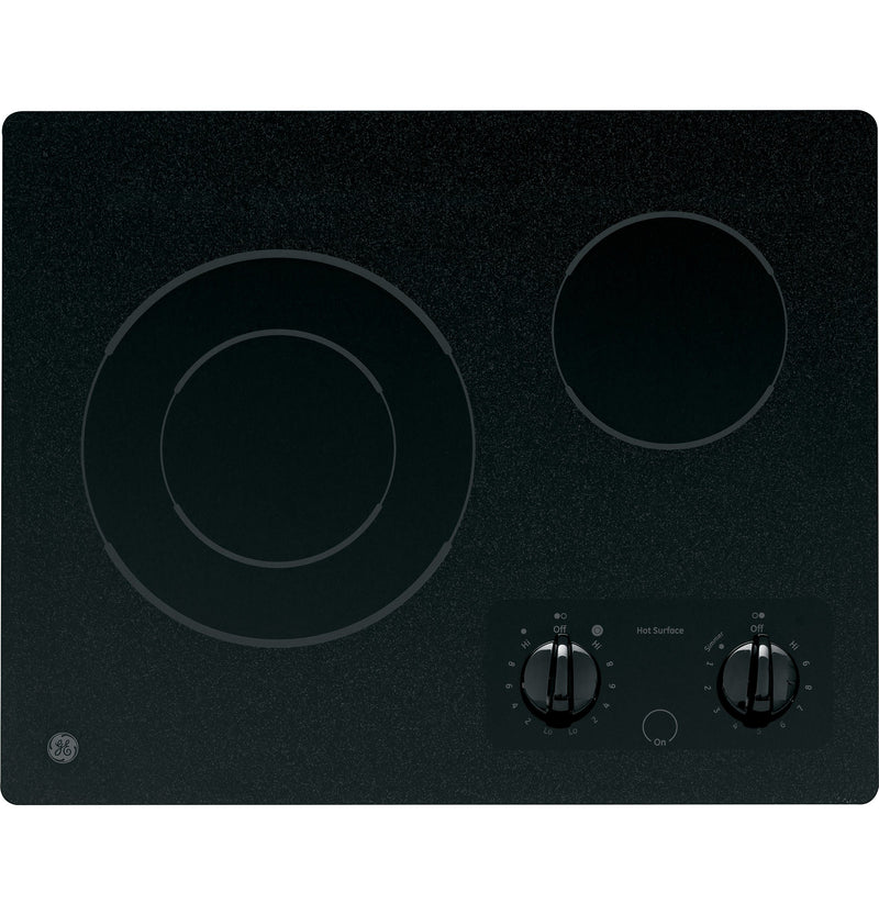 "GE Black on Black 21"" Radiant Cooktop - JP256BMBB"