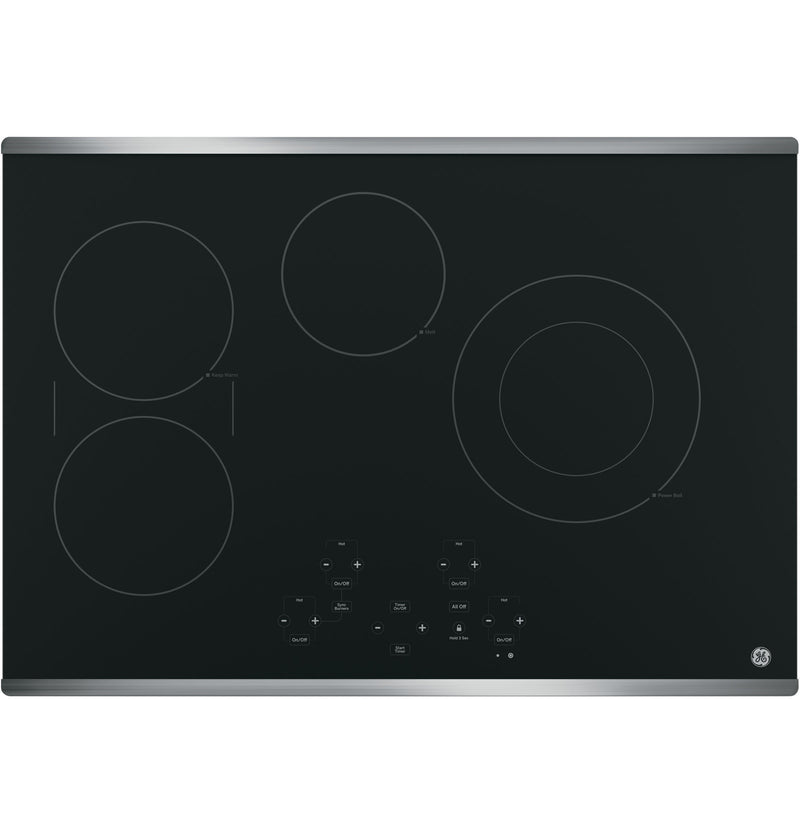 "GE Stainless Steel 30"" Electric Cooktop - JP5030SJSS"