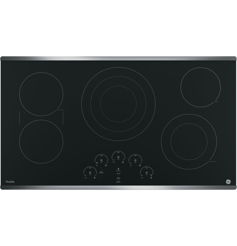 "GE Profile Stainless Steel 36"" Electric Cooktop - PP9036SJSS"