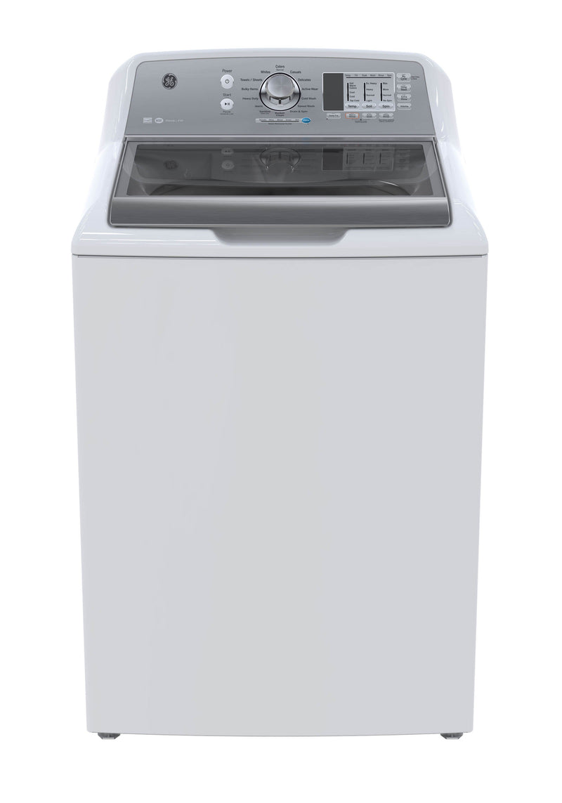 GE White Top-Load Washer (5.3 Cu.Ft.) - GTW680BMMWS