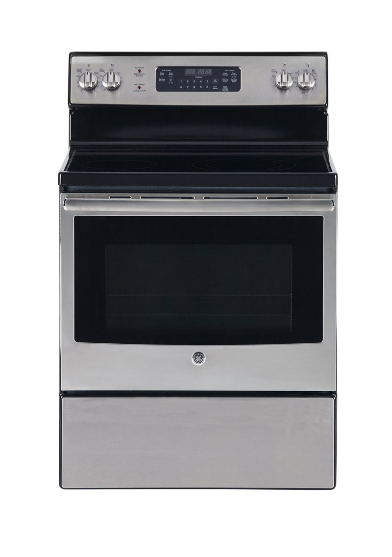 GE Stainless Steel Freestanding Electric Range (5.0 Cu. Ft.) - JCB730SKSS