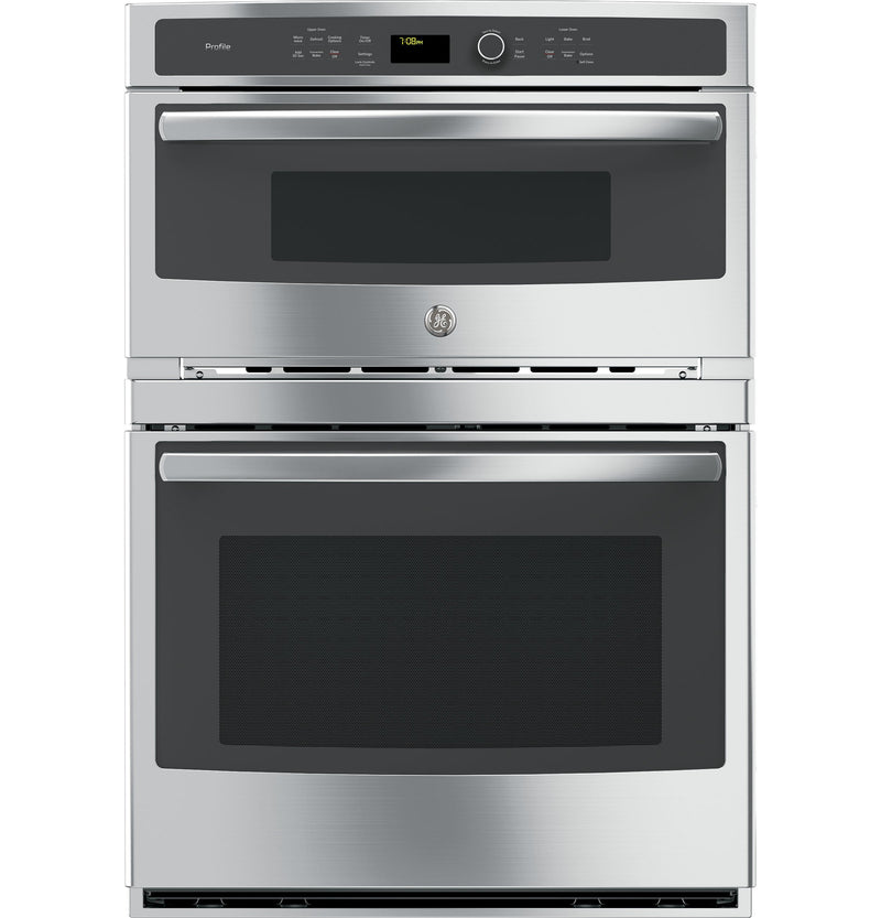 "GE Profile Stainless Steel 30"" Built-In Combination Convection Microwave/True European Convection Oven - PT7800SHSS"