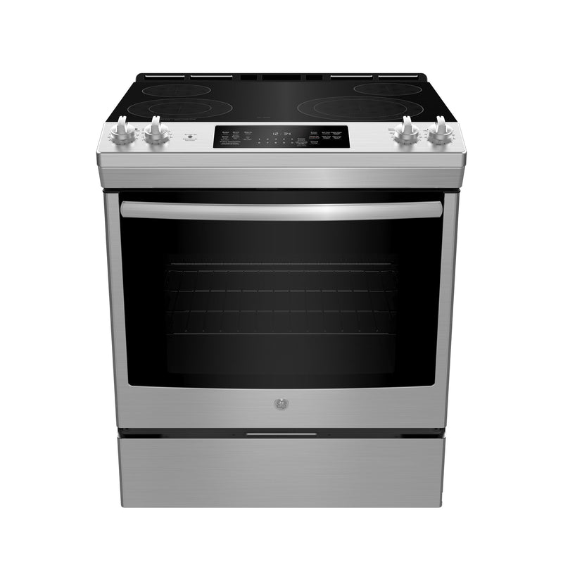 GE Stainless Steel Slide-In Electric Range (5.3 Cu. Ft.) - JCS830SMSS