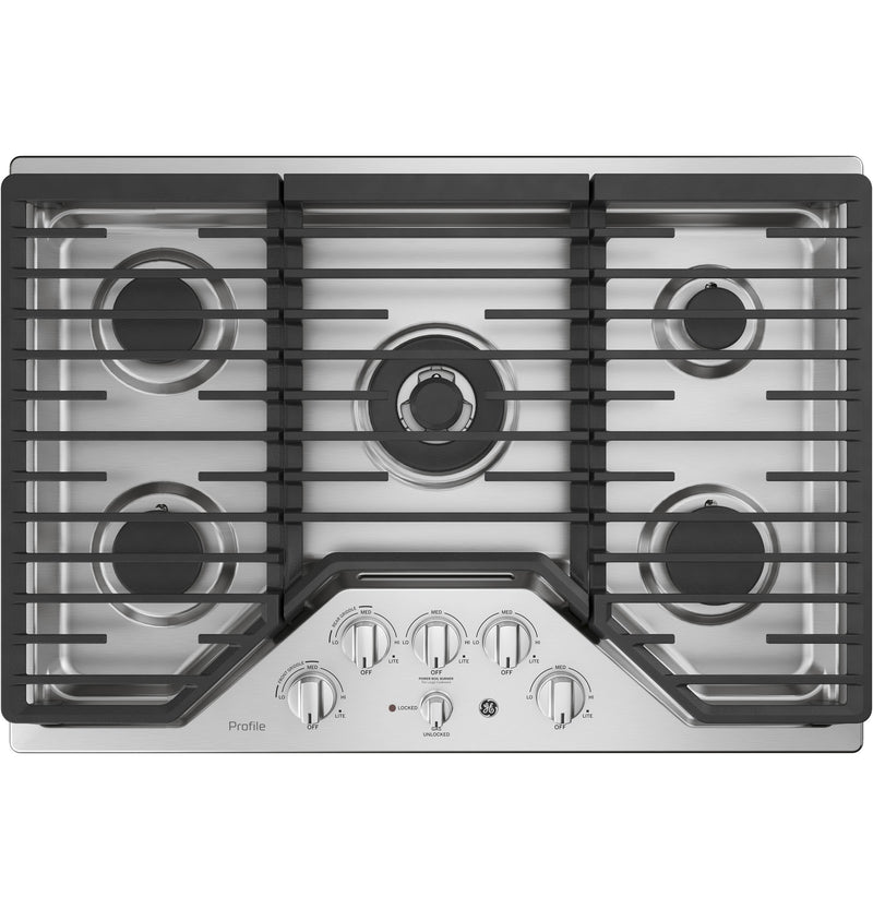 "GE Profile Stainless Steel 30"" Built-In Gas Cooktop - PGP9030SLSS"
