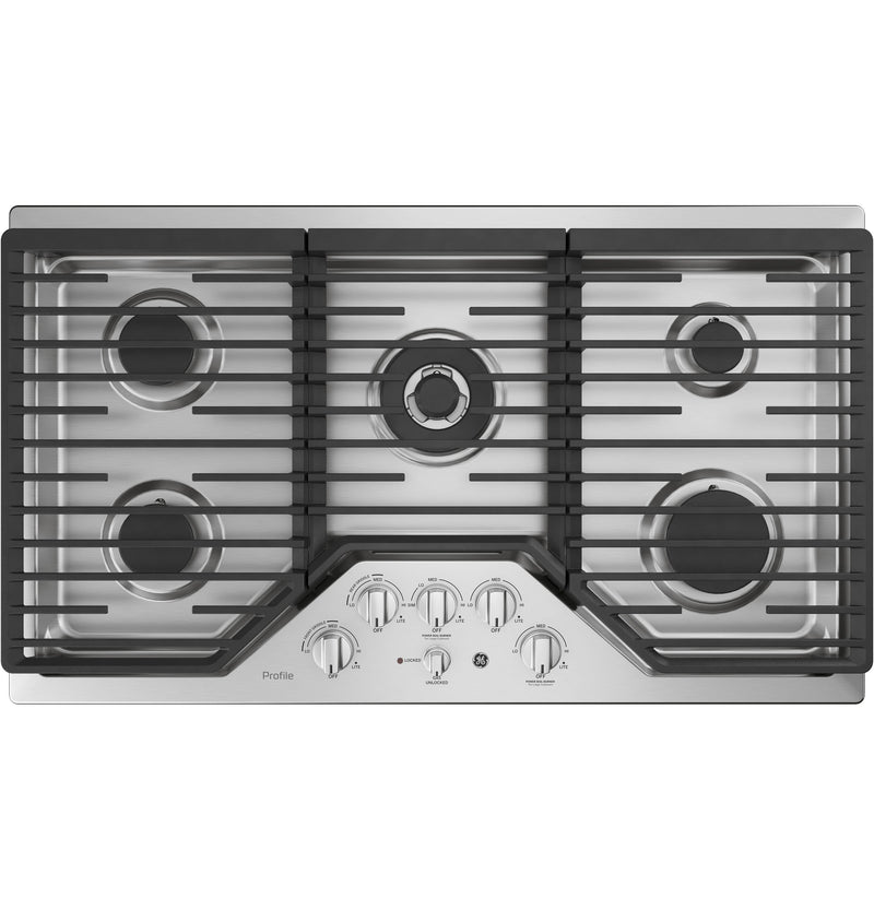 "GE Profile Stainless Steel 36"" Built-In Gas Cooktop - PGP9036SLSS"