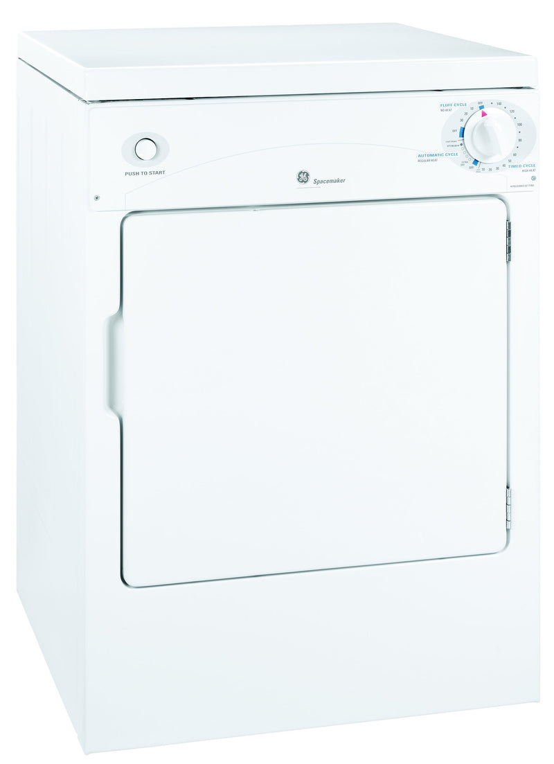 GE White Portable Compact Dryer (3.6 Cu. Ft.) - PSKP333EBWW