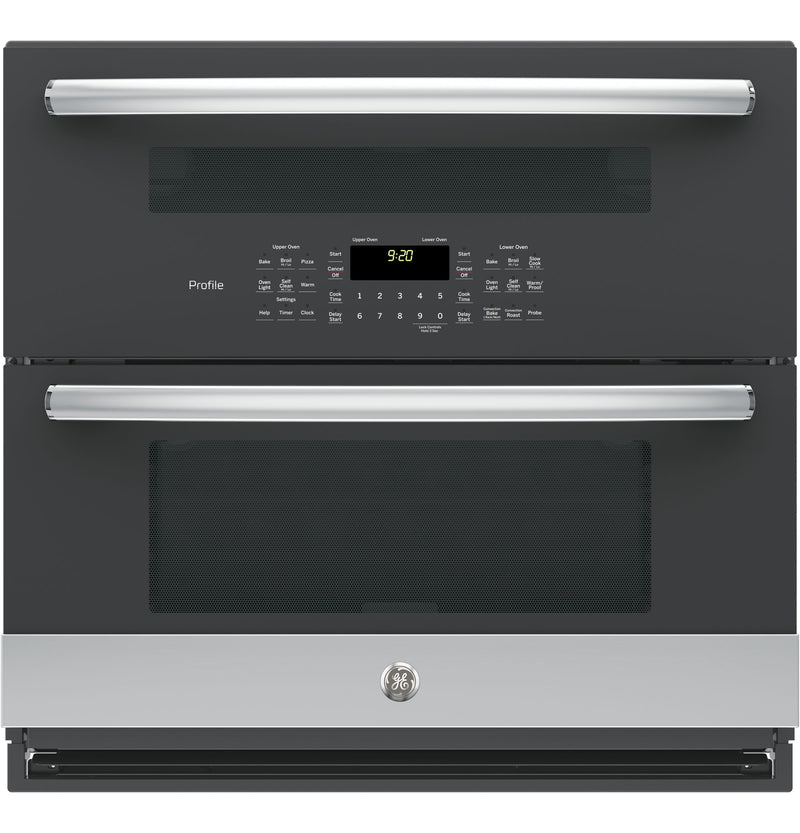 "GE Profile Stainless Steel 30"" Double Wall Oven - PT9200SLSS"