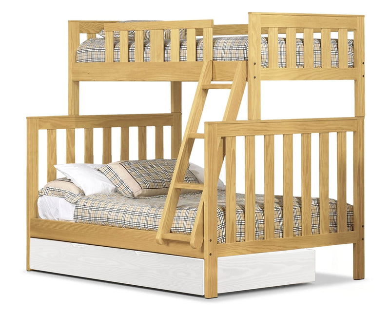 Taylor Twin over Full Bunk Bed - Golden Oak