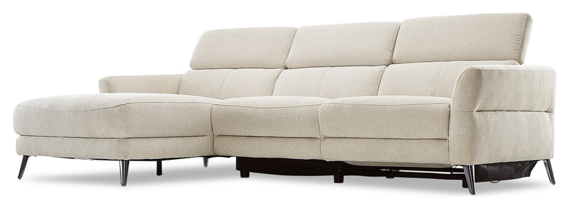 Francesca 2-Piece Power Reclining Sectional with Left-Facing Chaise - Starburst Shell