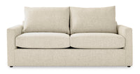 Harper Queen Sofa Bed with Memory Foam Mattress - Cream