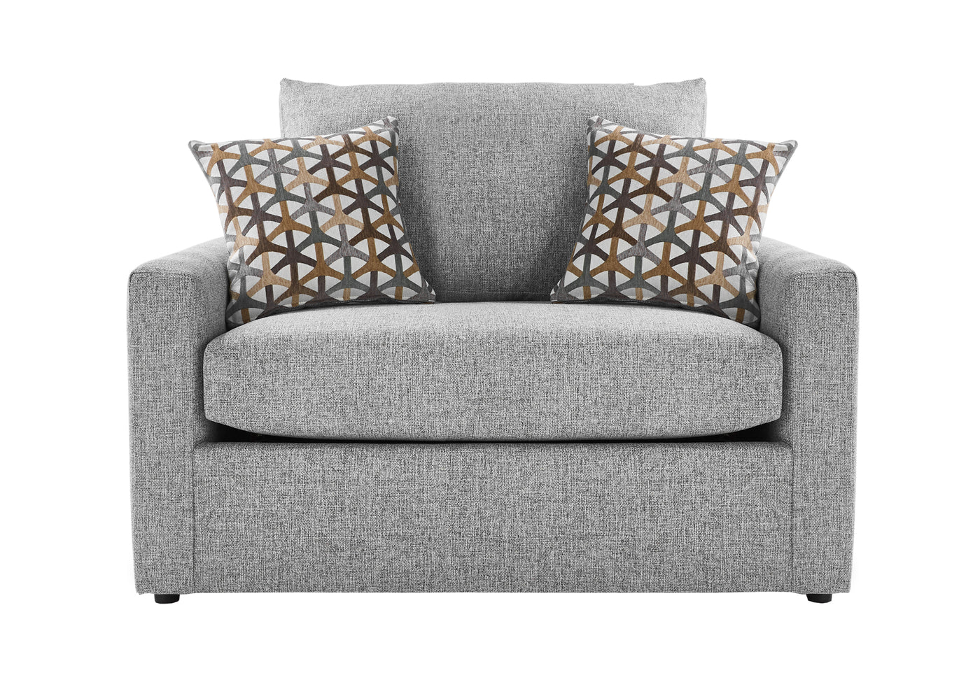 Picture of: Harper Twin Sofa Bed With Memory Foam Mattress Grey Leon S